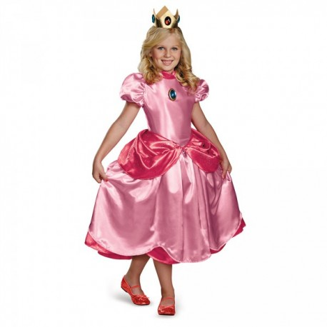 Disfraz de Princesa Peach prestige para niña - Imagen 1
