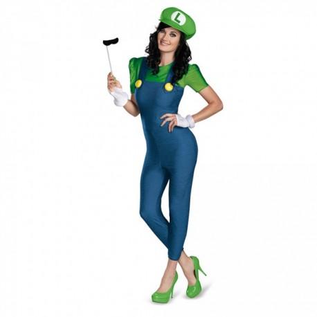 Disfraz de Luigi para mujer - Imagen 1