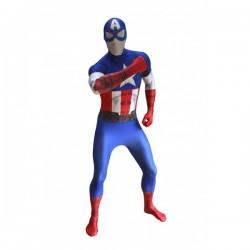 Disfraz de Capitán América Morphsuit - Imagen 1