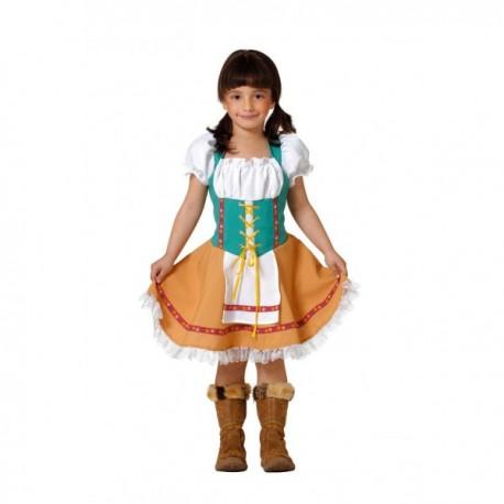 Disfraz de tirolesa niña - Imagen 1