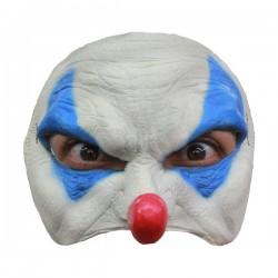 Media máscara payaso azul - Imagen 1