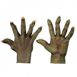 Manos de Demonio verdosas de látex - Imagen 1