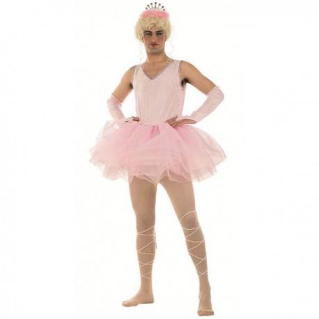 Disfraz bailarina tutú rosa hombre - Imagen 1