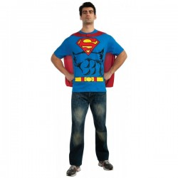 Kit disfraz Superman para hombre - Imagen 1