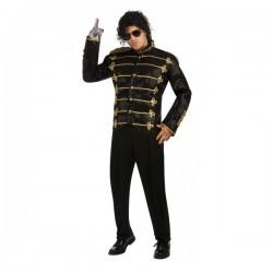 Chaqueta de Michael Jackson Militar deluxe negra para adulto - Imagen 1