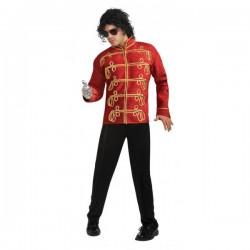 Chaqueta de Michael Jackson Militar deluxe roja para adulto - Imagen 1