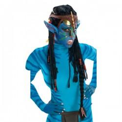 Peluca de Neytiri Avatar con orejas para adulto - Imagen 1