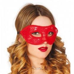 Antifaz rojo de encaje sexy - Imagen 1