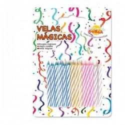 Pack de 24 Velas Mágicas de colores para Cumpleaños - Imagen 1