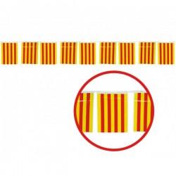 Guirnalda 50 m. Banderas Catalanas grandes - Imagen 1