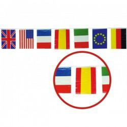 Guirnalda 50 m. Banderas Internacionales grandes - Imagen 1