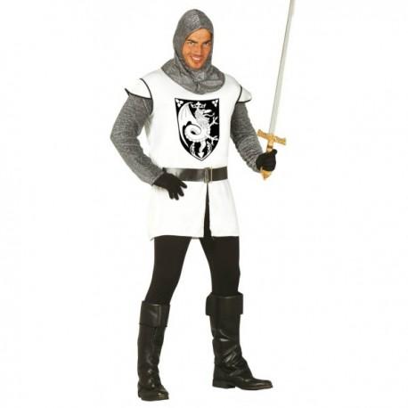 Disfraz de Caballero Medieval Blanco para hombre - Imagen 1