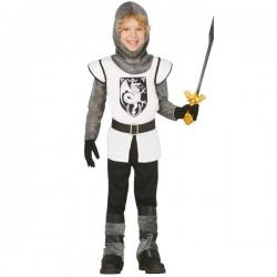 Disfraz de Caballero Medieval Blanco para niño - Imagen 1