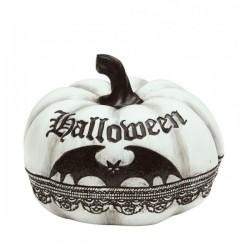 Calabaza Blanca y Negra Decoración Halloween - Imagen 1