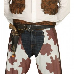 Cartuchera Marrón con Pistola - Imagen 1