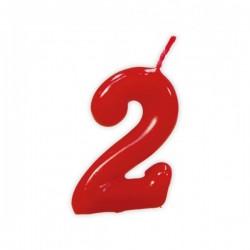 Vela de Cumpleaños Clásica Número 2 - Imagen 1