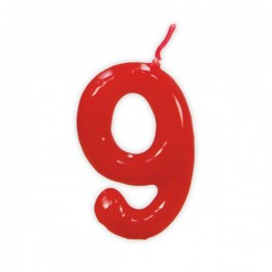 Vela de Cumpleaños Clásica Número 9 - Imagen 1