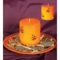 Vela Naranja Halloween 7'5 x 7'5 cm. - Imagen 1