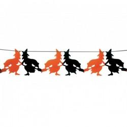 Guirnalda fantasía brujas halloween 23 x 300 cm - Imagen 1