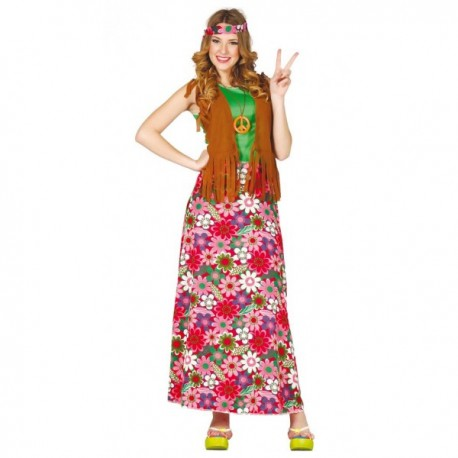 Disfraz de Hippie happy para mujer - Imagen 1