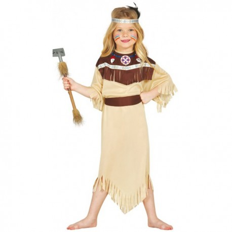 Disfraz de india Cherokee para niña - Imagen 1