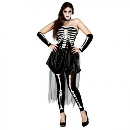 Disfraz de esqueleto sensual para mujer - Imagen 1