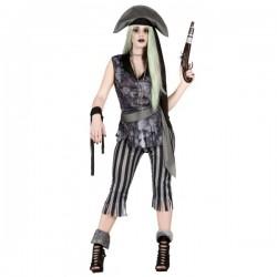 Disfraz de pirata fantasma saqueadora para mujer - Imagen 1