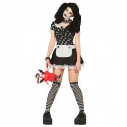 Disfraz de muñeca diabólica fantasma para mujer - Imagen 1