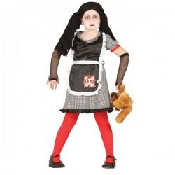 Disfraz de muñeca diabólica gótica para niña - Imagen 1
