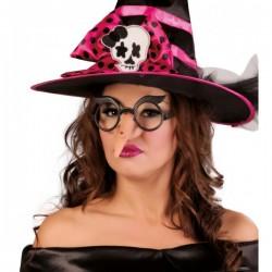 Nariz de bruja piruja con gafas para adulto - Imagen 1