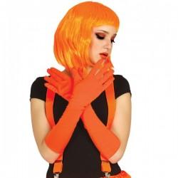 Guantes naranjas largos - Imagen 1