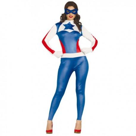 Disfraz de superhéroe capitana para mujer - Imagen 1