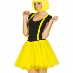 Tutú amarillo neón para mujer - Imagen 1