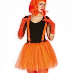 Tutú naranja neón para mujer - Imagen 1