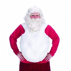 Barriga postiza de Papá Noel blanca - Imagen 1