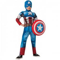 Disfraz de Capitán América Vengadores Unidos deluxe para niño - Imagen 1