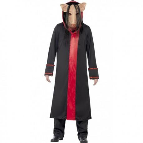 Disfraz de Cerdo Saw para adulto - Imagen 1