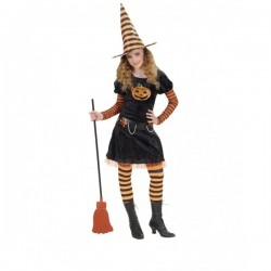 Disfraz de bruja calabaza para niña - Imagen 1