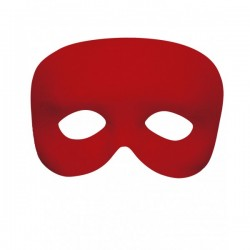 Antifaz rojo liso - Imagen 1
