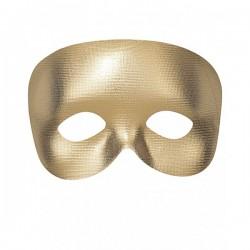 Antifaz dorado liso - Imagen 1