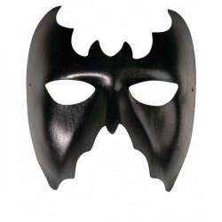 Antifaz de murciélago negro - Imagen 1