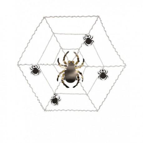 Telaraña decorativa con araña - Imagen 1