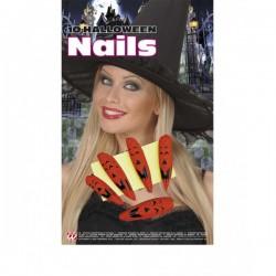 Set de uñas de calabaza halloween - Imagen 1