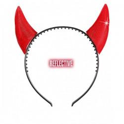 Cuernos reflectantes rojos de diablo - Imagen 1