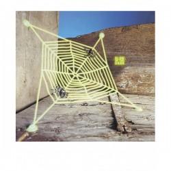 Telaraña fluorescente con arañas - Imagen 1