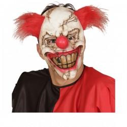 Máscara de payaso zombie con pelo - Imagen 1