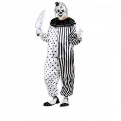 Disfraz de payaso arlequín asesino para hombre - Imagen 1