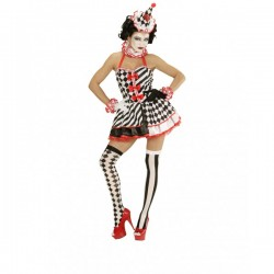 Disfraz de arlequín pin up para mujer - Imagen 1