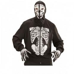 Disfraz de esqueleto mortal con capucha - Imagen 1