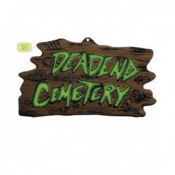 Cartel Deadend Cemetery fluorescente 3D - Imagen 1